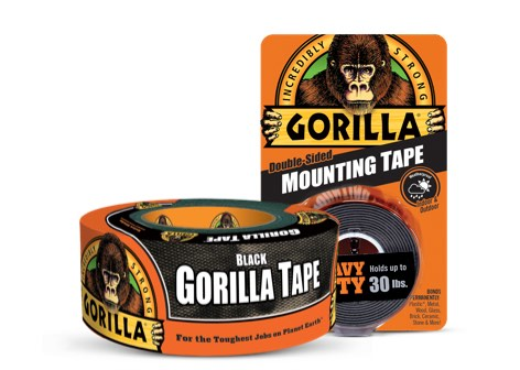 Gorilla tape roll with packaging
